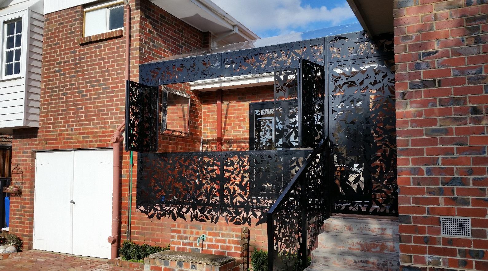 Laser Cut Metal Screens Geelong Garden Corten Steel