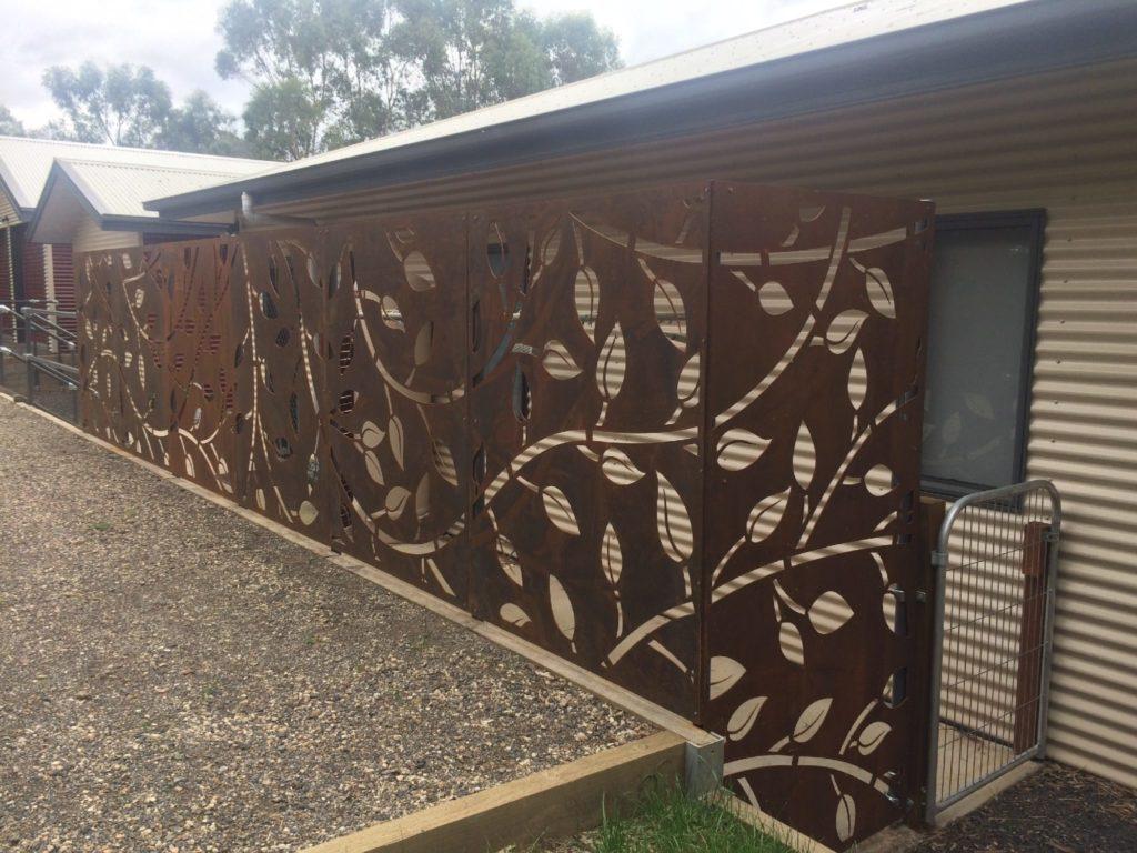 Laser Cut Garden Screens Geelong Metal Corten Steel