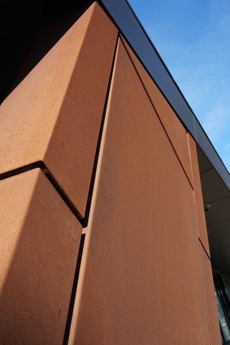 Metal And Corten Steel Cladding Geelong Fa Ades Wall