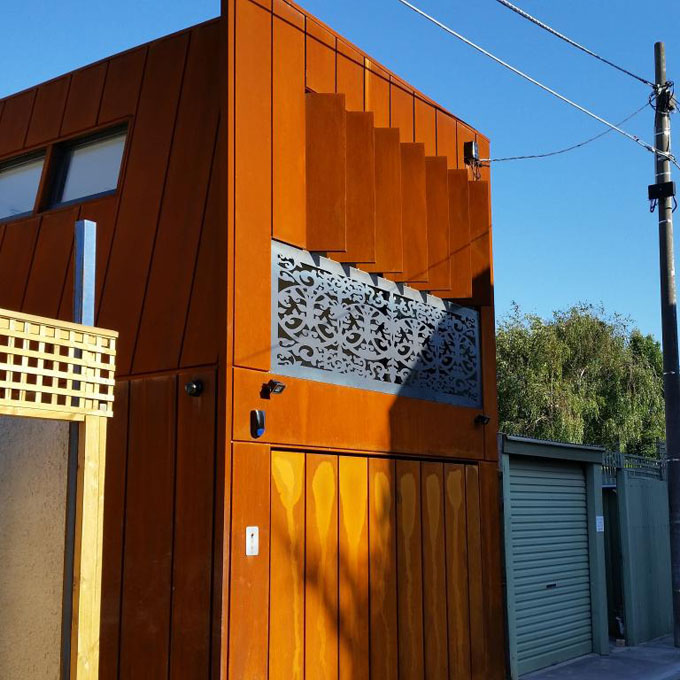 Laser Cut Corten Steel Screens Geelong Decorative Panels