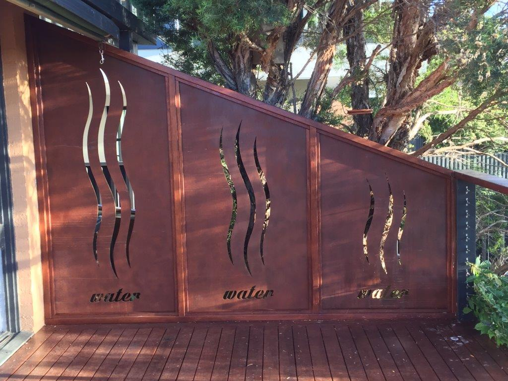 Decorative Metal Panels Geelong Laser Cut Steel Screens